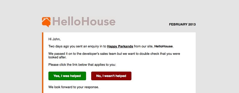 HelloHouse now follows up with new leads
